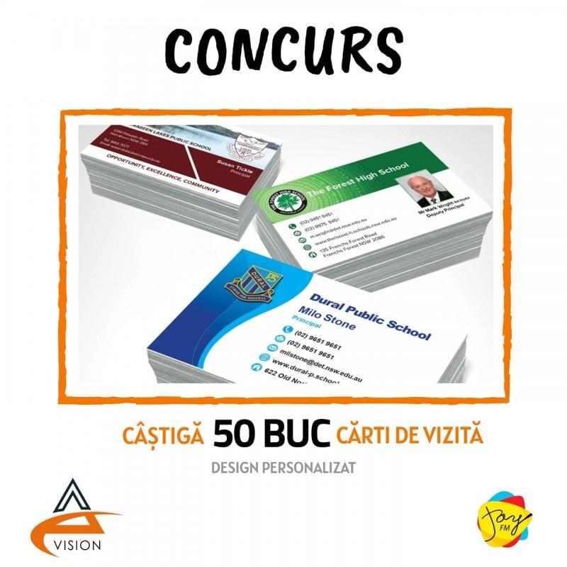 Câștigă 50 buc. cărți de vizită by AC Vision (ÎNCHEIAT)