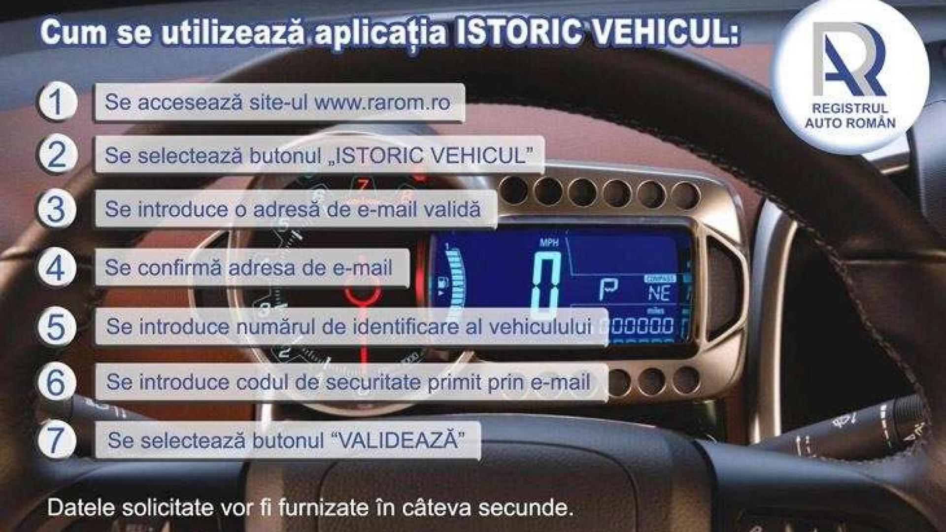Istoric Vehicul - aplicația care îți arată istoricul daunelor vehiculelor înmatriculate în România