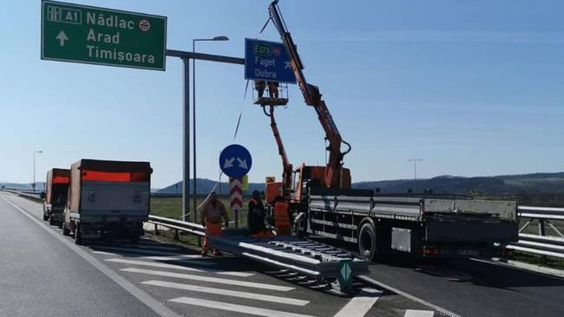 O nouă intrare pe autostrada Lugoj-Deva: nodul rutier Dobra a fost deschis circulației
