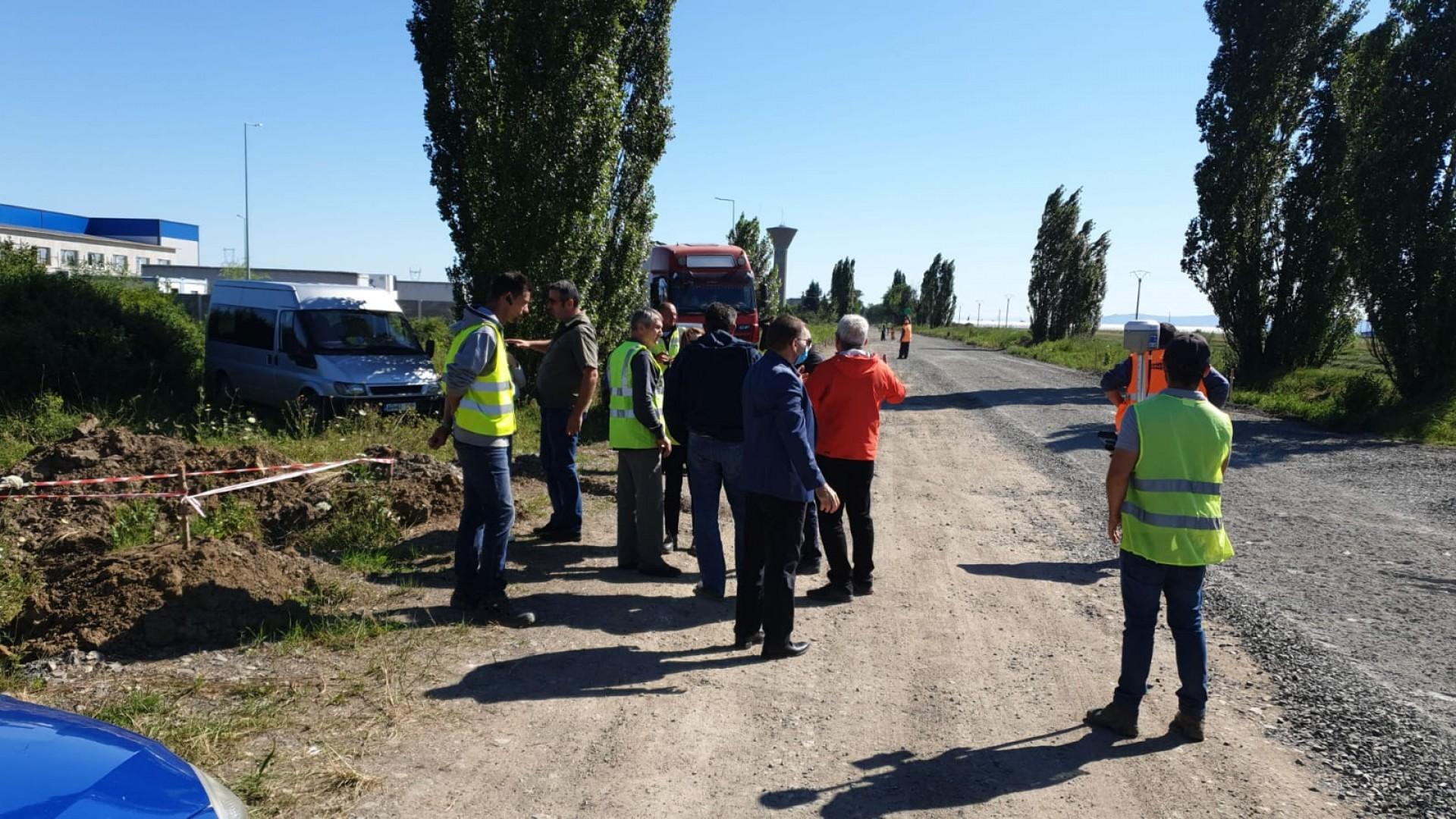 Iustin Cionca: Controlăm pe șantier fundația drumului județean Arad-Șiria